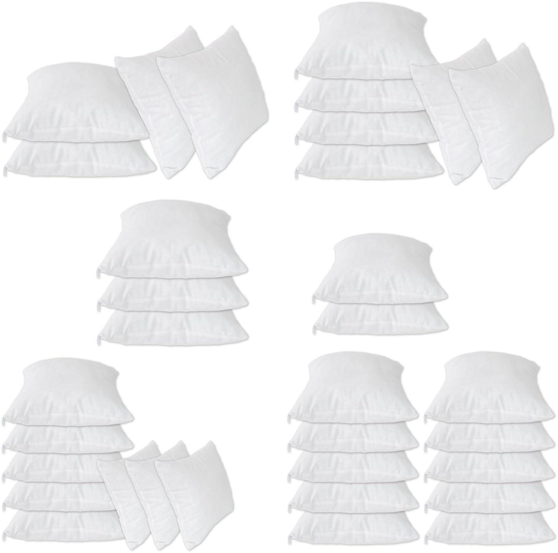 Nurtextil24 Füllkissen 2er 4er 6er 8er 10er Sparpack Inlett Inlett Inlett 100% Baumwolle 22 Größen in Weiß mit Reißverschluss 8er Pack 80 x 80 cm B01LWWWGJK 4eb45f