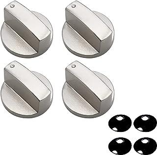 Lot de 4 boutons rotatifs universels pour cuisinière à gaz - 8 mm - En métal - Accessoire pour cuisinière - Pour four et c...