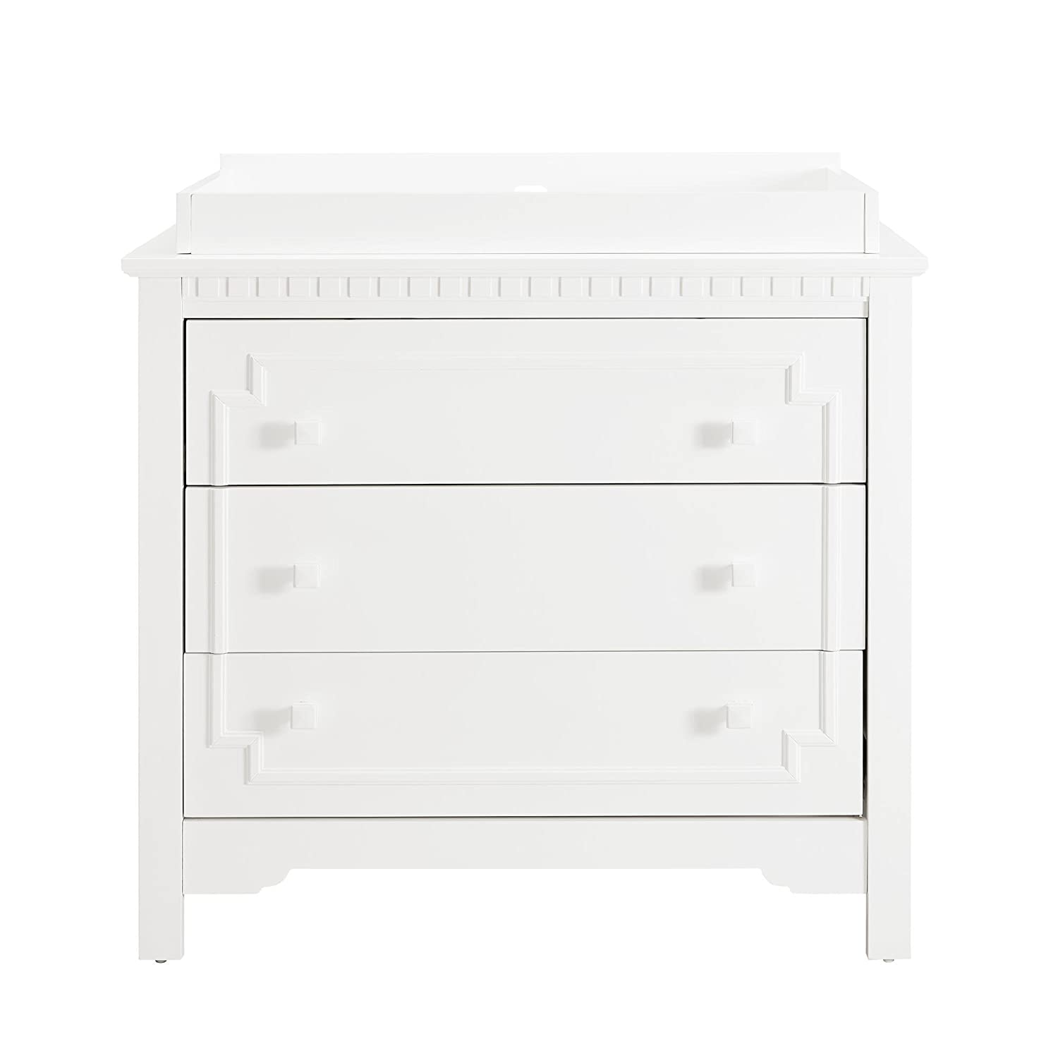 Baby Relax Teri 3-Drawer Dresser and Topper White