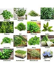 """Mezcla/Set""""Jardín de hierbas"""" 16 x 50 semillas de las hierbas más populares de Portugal / 100% natural (Sin químicos/ayudantes de crecimiento artificial)"""