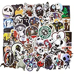 Halloween Sticker Pack: Totally 50 Nightmare Before Christmas stickers, contains various related theme patterns, you can choose your favorite to paste. Material: All water bottle stickers are made of high quality vinyl material, sun protection and wa...