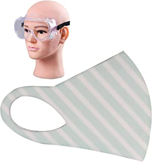 HACER Combo of 1 Piece Goggle ORFRM03 Reusable Female Face Mask for Girls & Women Multilayer Washable Stretchable Breathable Protective Nose Mouth Cover (1 Pc)