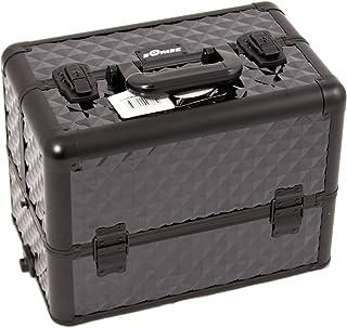 Sunrise Dona Heavy Duty Makeup Case Professional Nail Travel Organizer Box, Black Diamond, 9 Pound