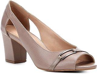 Peep Toe Shoestock Lezard Metal