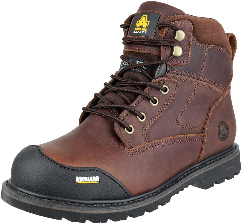 discount shop new concept exclusive deals Pour Safety Amblers des marron bottes Safety cuir FS167 ...