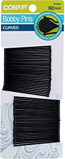 Conair Curve Bby Pins Blc Size 60ct Conair Curve Bobby Pins Black 60ct