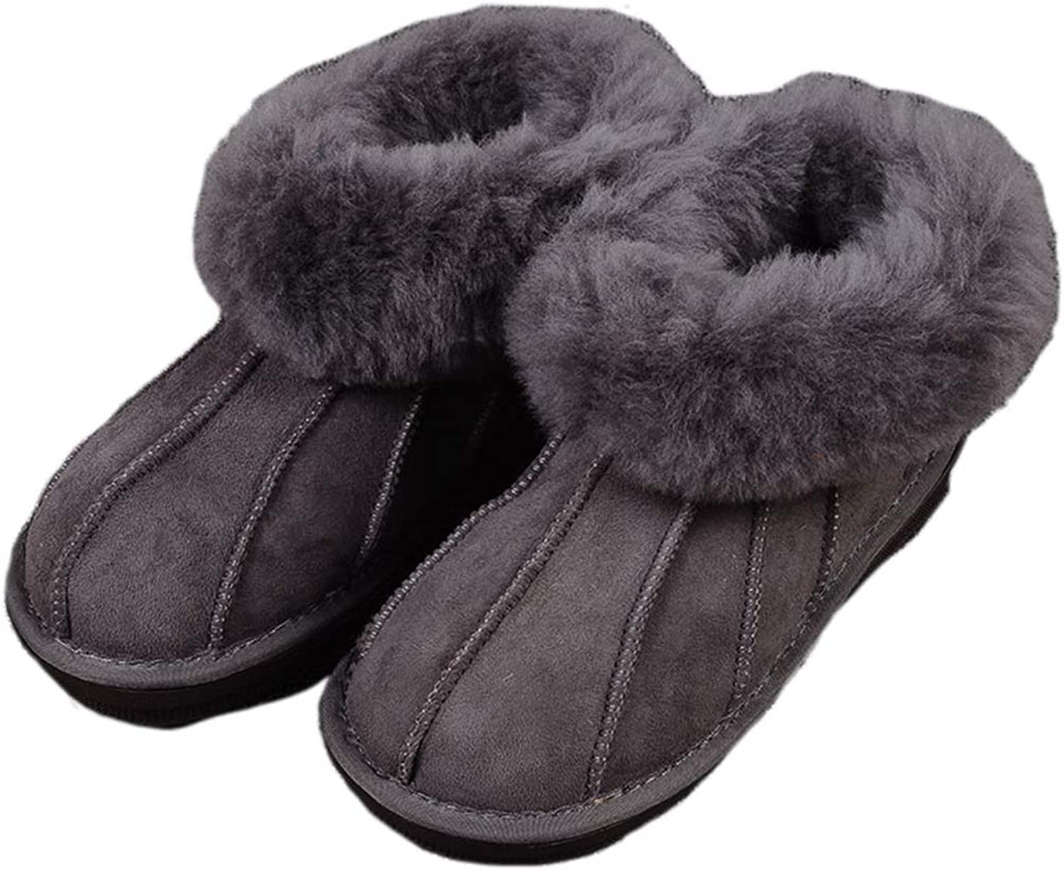 Nafanio Wool Winter Slippers Home Package with Comfortable Men and Women Couple Fur Large Size Mother Pregnant Boots shoes