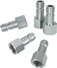 WYNNsky Automotive Air Plug, 1/2 Inch Body Size, 1/2 Inch NPT Female Threads Size, 5 Pieces Steel Air Compressor Hose Accessories Fittings