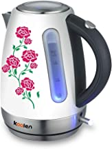 Koolen- Electric Kettle Stainless Decorative 1.7L Model 17208, White, Stainless Steel
