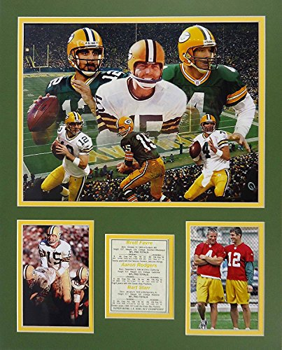 Brett Favre and Dan Marino Green Bay Packers Miami Dolphins NFL Double Matted 8x10 Photograph Before the Game