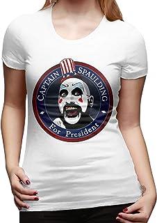 Mary West Captain Spaulding Camiseta de Manga Corta de Corte clásico para Mujer Camisetas de Manga Corta Camiseta con Cuel...