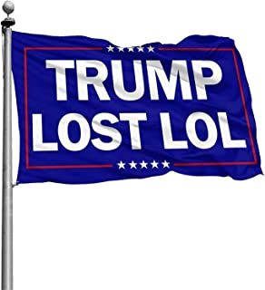 Trump Lost LOL Flag, 3x5 Feet Trump Lost Flag Indoor Outdoor Decoration Banner with Brass Grommets 3x5ft Double Stitched U...