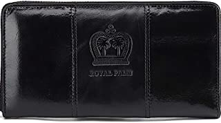Ladies Extra Large Leather Wristlet Zipper Clutch Purse/Wallet RFID proection at Clearance Sale Prices