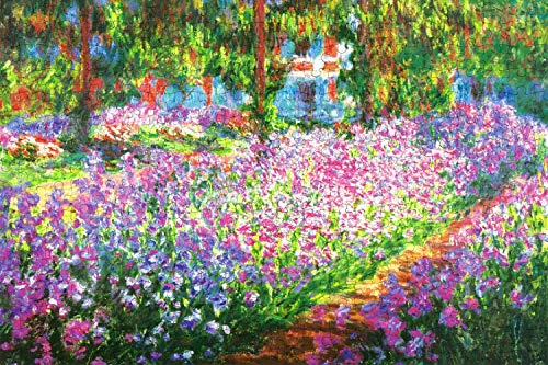 TLMYDD Monet Iris en Monedas Jardín Puzzles para Adultos, niños Jigsaw Puzzles Juego Juguetes Regalo para niños Niños y niñas (Size : 1000pcs20x30inch/50x75cm)