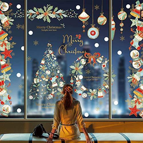 Yuson ragazza riutilizzabile albero albero ghirlanda vischio appeso baubles banner wall wall-window adesivi clings clings copertina parete decalcomania murale adesivo for la casa negozio di visualizza