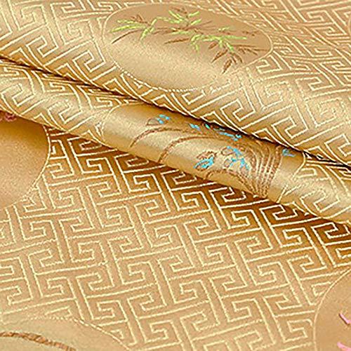 MUYUNXI Tela De Raso Forro De Tela para Vestidos De Novias Fundas Artesanías Vestidos Blusas Ropa Interior 75 Cm De Ancho Vendido por 2 Metro(Color:Dorado)