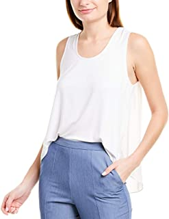 BCBG Max Azria Women's High-Low Sheer Back Sleeveless Blouse