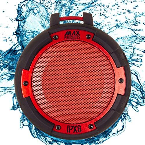 Wireless Bluetooth 4.0 Lautsprecher MAX PRODUCTS® IPX8 Wasserdicht Stoßfest Integrierte Freisprecheinrichtung Kraftvoller Sound Zuschaltbare LED