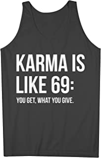 Karma Is Like 69 おかしいです 皮肉な Party 男性用 Tank Top Sleeveless Shirt