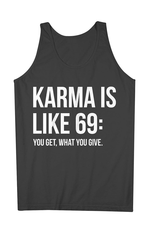 Karma Is Like 69 おかしいです 皮肉な Party 男性用 Tank Top Sleeveless Shirt