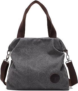 5b0288ad82 Mfeo Womens Casual Canvas Shoulder Bags Messenger Bags Crossbody Bag Tote  Bags Handbag
