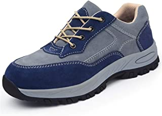 SHANLEE Men's Labor Insurance Shoes stab-Proof and Smash-Proof Breathable Steel Shoes