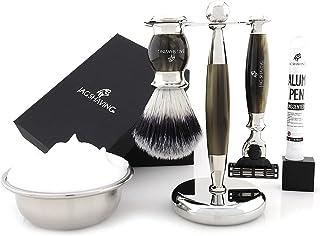 Jag Shaving Scheerset - 3-delige scheerset - Jag's Lee Range - 3 Edge Scheermes - Synthetische Silvertip scheerkwast - Ele...