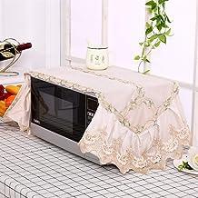 HHYK La Nueva Manera de microondas Cubierta de Encaje de microonda de la Capilla de Aceite Protector contra el Polvo Accesorios Cocina de la decoración del hogar Can Lavable (Color : Color 3)