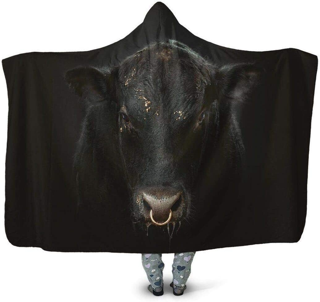 Omaha Mall Personalized 3D All Over Printed Hoodie Sale item Black Blanket Wearab Cow