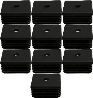 BQLZR M8 Tapones de plástico para los pies de los muebles, color negro, con