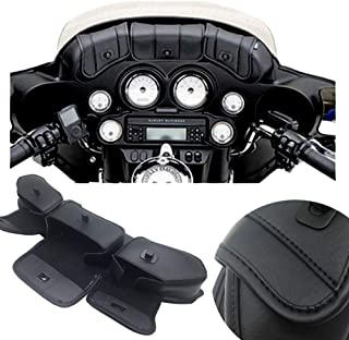 KYN Motorcycle Windshield Bag Saddle 3 Pouch Pocket Three Pocket Fairing Bag Fit for Harley Touring Electra Street Tri Glide 1996-2013 for 96-13 Harley-Davidson Touring Black
