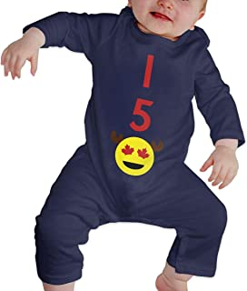 A1BY-5US Newborn Infant Baby Girls Boys Romper Jumpsuit Canada 150-11 Cotton Long Sleeve Climb Jumpsuit