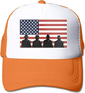 Veteran's Day US Flag Adult's Baseball Cap Mesh Adjustable Trucker Hat for Men Women