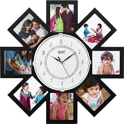 Ajanta Analog 40 cm X 40 cm Wall Clock (Black, with Glass)
