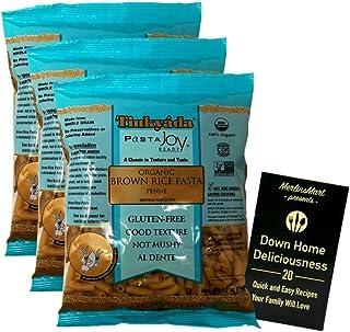 Tinkyada Organic Gluten-Free Brown Rice Pasta | Penne (12 Ounces) | 3 Count Plus Recipe Booklet Bundle