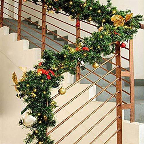 following Guirnaldas de Navidad, 2.7m Decoraciones de guirnaldas de Navidad Decoraciones de Navidad de Guirnalda de Pino Artificial para Interiores y Exteriores para escaleras de puert Wonderfully
