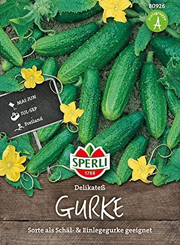 80926 Sperli Premium Gurken Samen Landgurke Delikateß | Freilandgurke | Gewächshausgurke | Gurken Samen Freiland | Gurken Saatgut