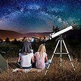 TTLIFE Telescopio Astronómico Gran Aumento Profesional Ajustable de 360°con Kit de Accesorios, Trípode, Adaptador de Teléfono Inteligente, Filtro Solar para Niños, Adultos, Principiantes