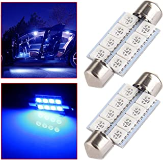 OCPTY Extremely Bright 39mm Festoon Blue Light for 6411 6418 C5W DE3423 6413 DE3425 Car Interior Dome License Plate Door Lights Pack of 2