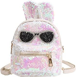Cute Mini Sequin Backpack Dazzling Rabbit Ear Shoulder Bag Daypack for Little Girls