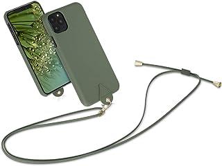 kwmobile Funda con Cuerda Ajustable y extraíble Compatible con Apple iPhone 11 Pro MAX - Carcasa en Verde Bosque