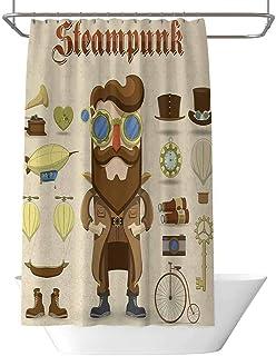 Steampunk - Cortina de ducha