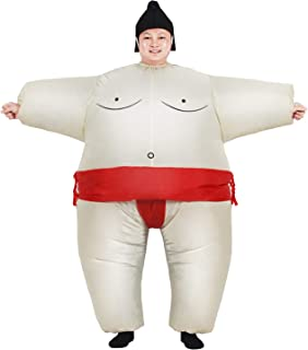 Inflatable Adult Sumo Wrestler Suits Wrestling Fancy Dress Halloween Costume One Size Fits Most
