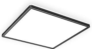 B.K.Licht Panel de LEDs con retroiluminación indirecta I Luz de techo con retroiluminación I Ultra plano 29mm I Color de luz blanca neutra I 42x42cm