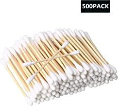 Cotton Buds 5 Pack 500pcs Cotton Swabs Bamboo with Wooden Handles for Makeup Clean Care Ear Cleaning Wound Care Cosmetic Tool Double Head Biodegradable Eco Friendly