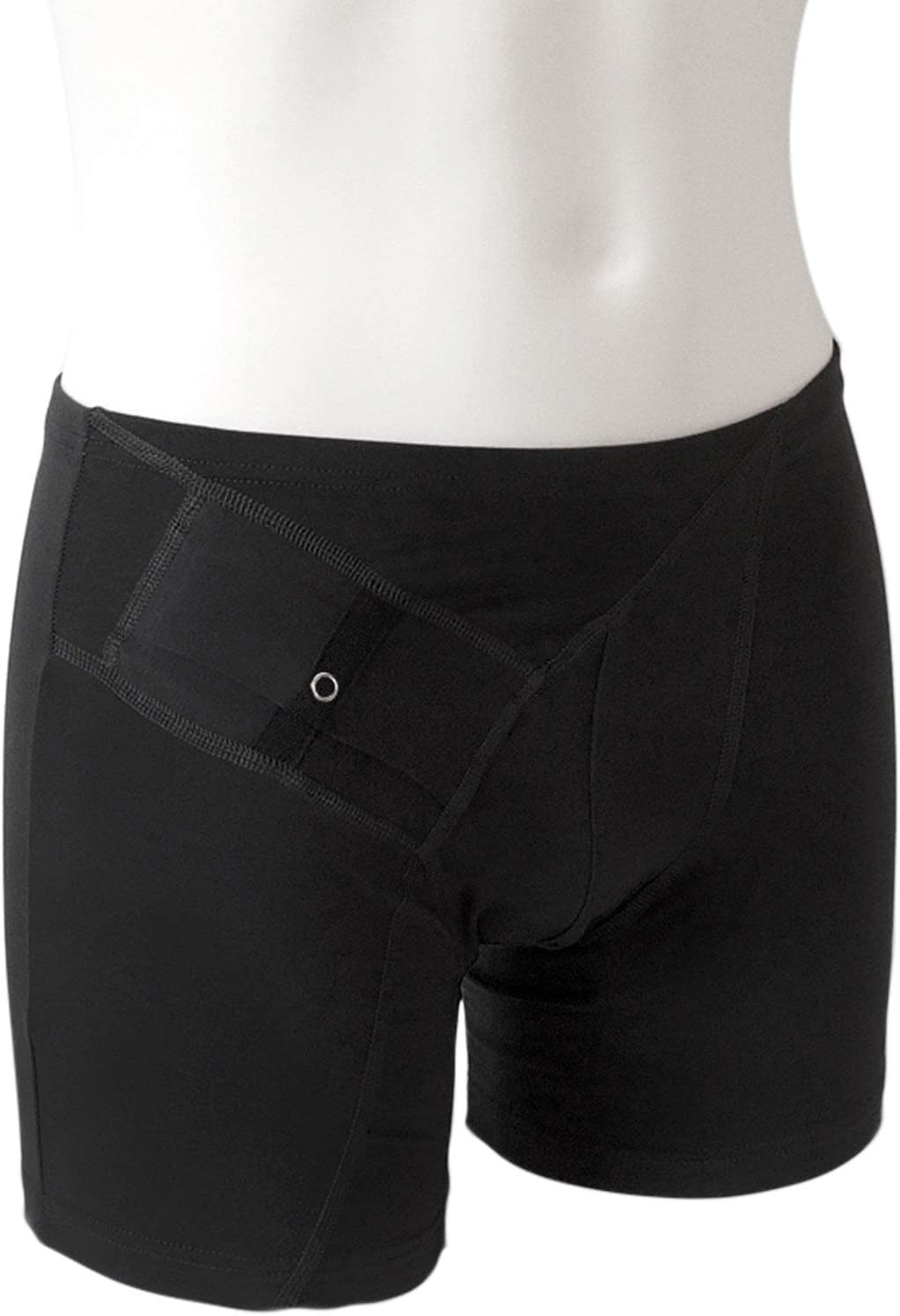 AnnaPS Men's Diabetes Medium Black Shorts for Pocket Boxer 5 ☆ very Gifts popular with