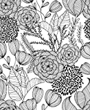 NuWallpaper NUS3501 Black Secret Garden Wallpaper