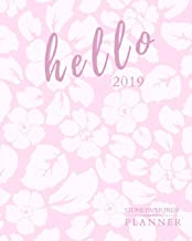 Hello 2019: Stone Paper Press Planner: Weekly and Monthly Planner/Calendar Sept 2018 – Dec 2019 Hawaiian Pink Flower