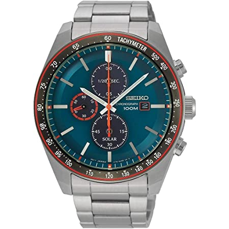 [セイコー] SEIKO 腕時計 ソーラー クロノグラフ 海外モデル ブルー/オレンジ SSC717P1 メンズ [逆輸入品]