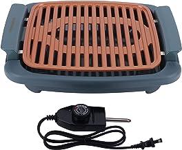 Grelha elétrica para assar sem fumaça, assadeira elétrica portátil de 1000 W, 5 modos de ajuste de temperatura para cozinha